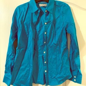Banana republic, blue button down shirt